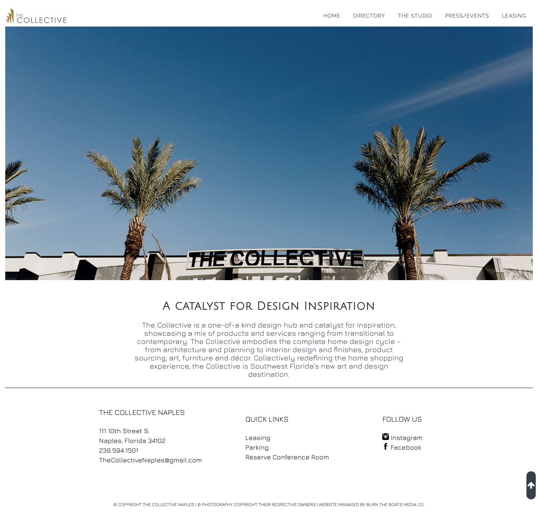 The Collective Naples website design