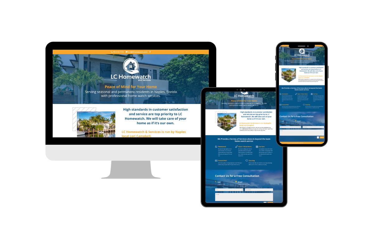 homewatch website design