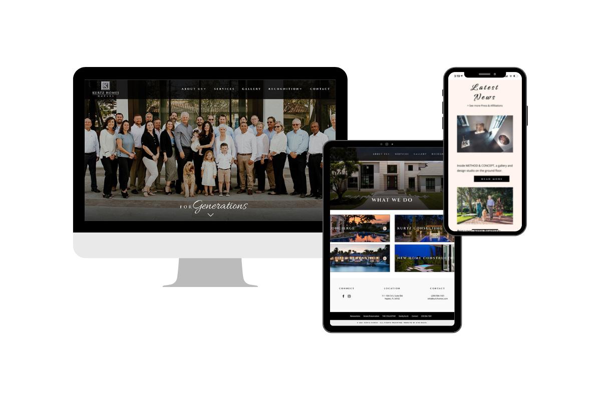 kurtz homes website design naples