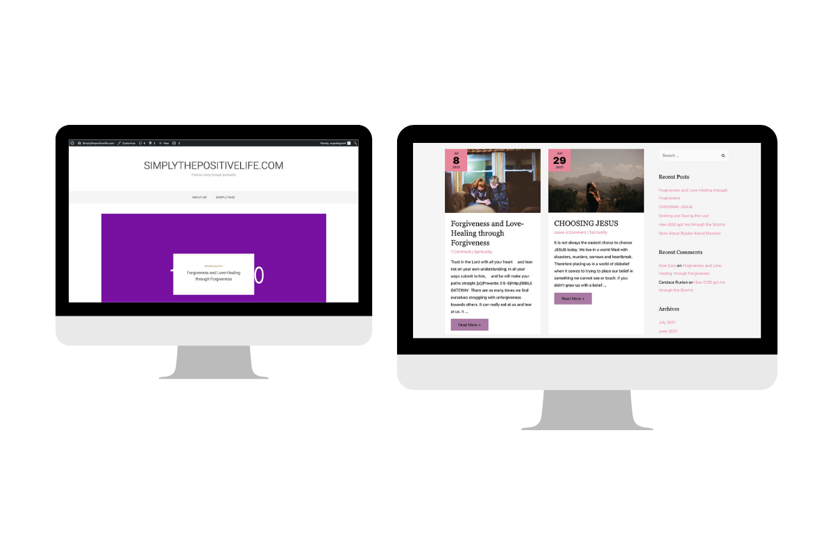 before and after blog redesign