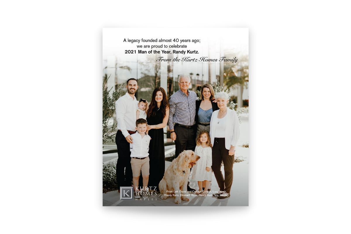 print ad design kurtz homes man of the year